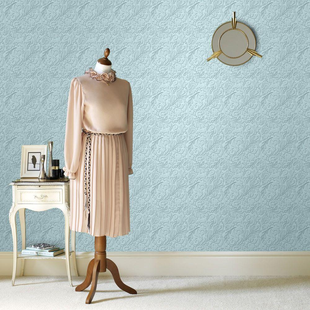 Martha Stewart Living Damask Paintable Removable Wallpaper