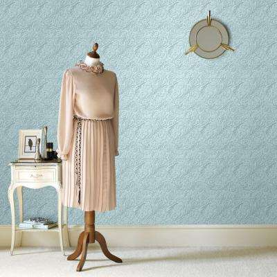 Damask Paintable Removable Wallpaper