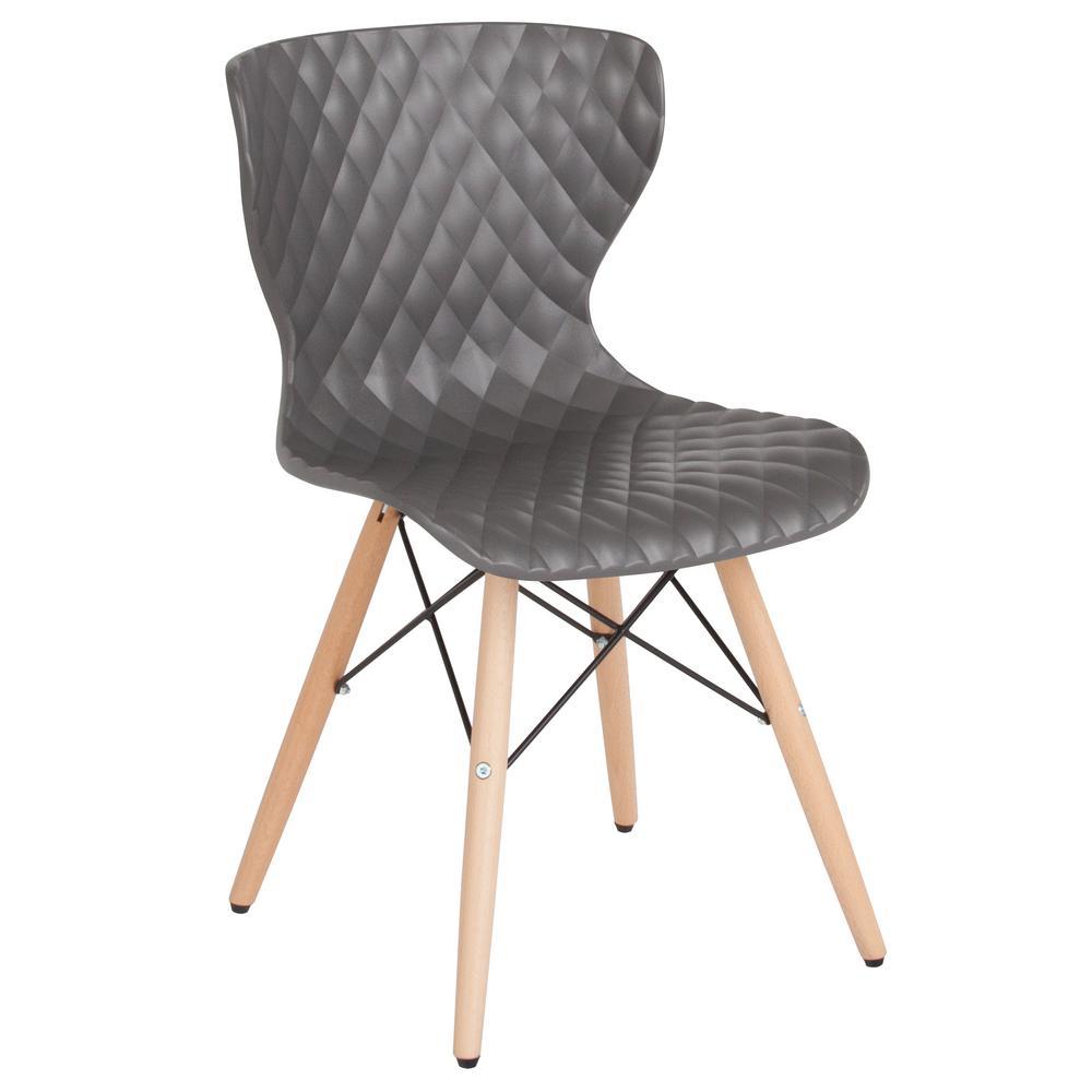 Flash Furniture Gray Plastic Office/Desk Chair CGA-LF-232246-GR-HD