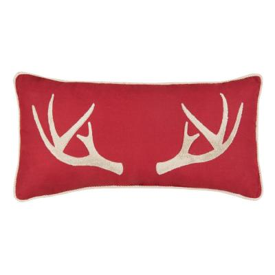 12 in. x 24 in. Tufted Antler Tufted Pillow
