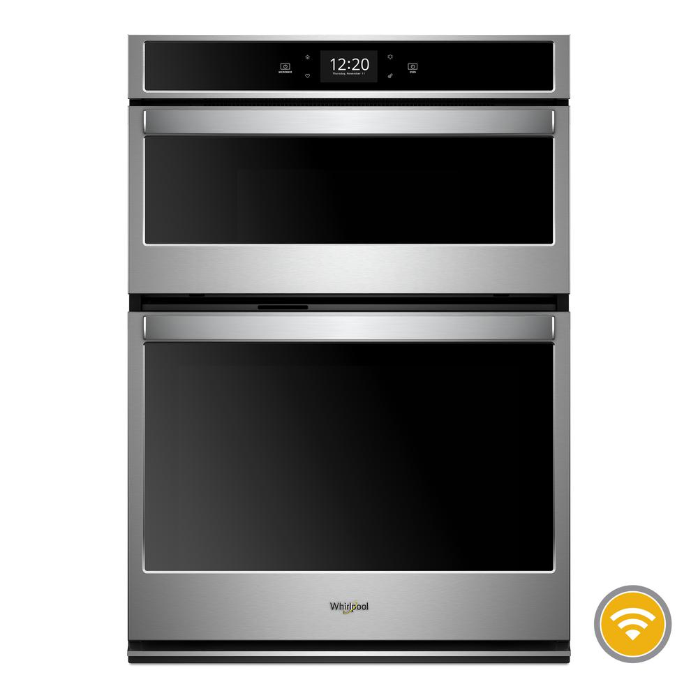 Whirlpool 6 4 Cu Ft Smart Combination Electric Wall Oven With Built In Microwave
