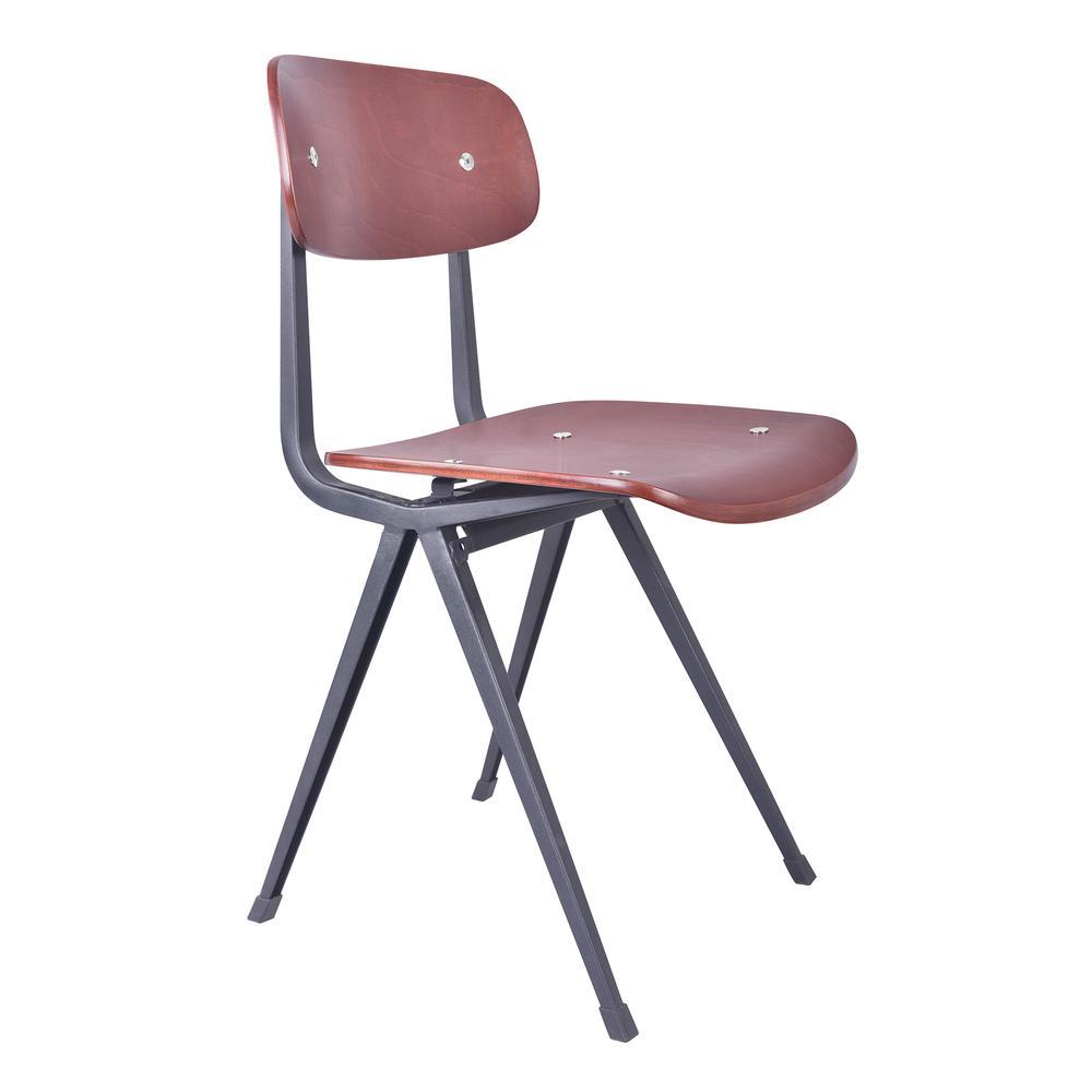 Lyles Industrial Black Metal Dining Chair (Set of 2)