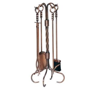 UniFlame 5-Piece Antique Copper Fireplace Tool Set by UniFlame