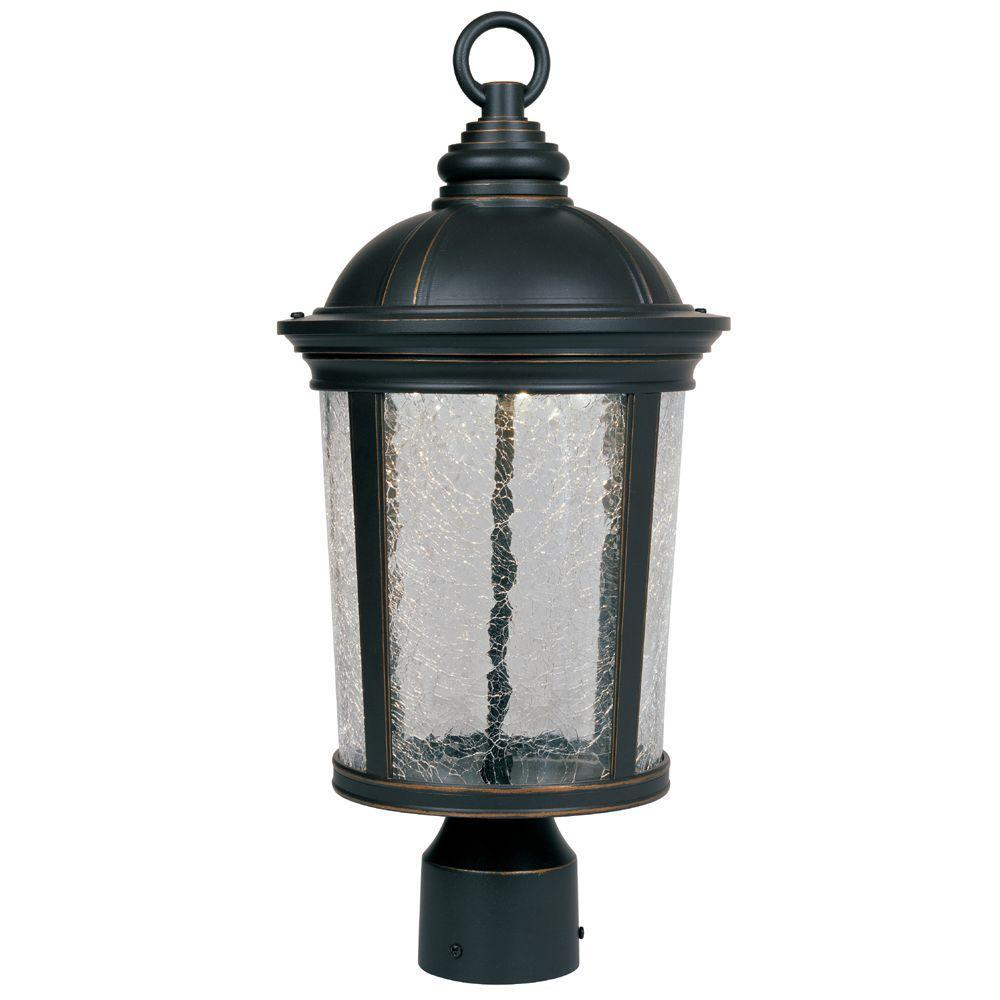 Winston Aged Bronze Patina Outdoor LED Post Lantern