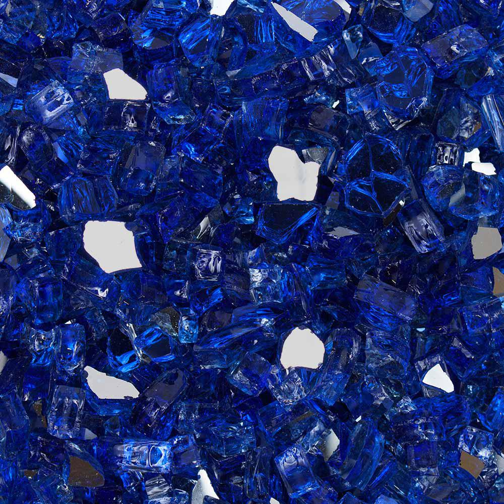 Celestial Fire Glass 1/2 in. 10 lbs. Meridian Blue Reflective Tempered Fire Glass in Jar