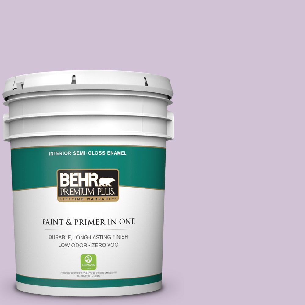 5-gal. #M100-2 Seedless Grape Semi-Gloss Enamel Interior Paint