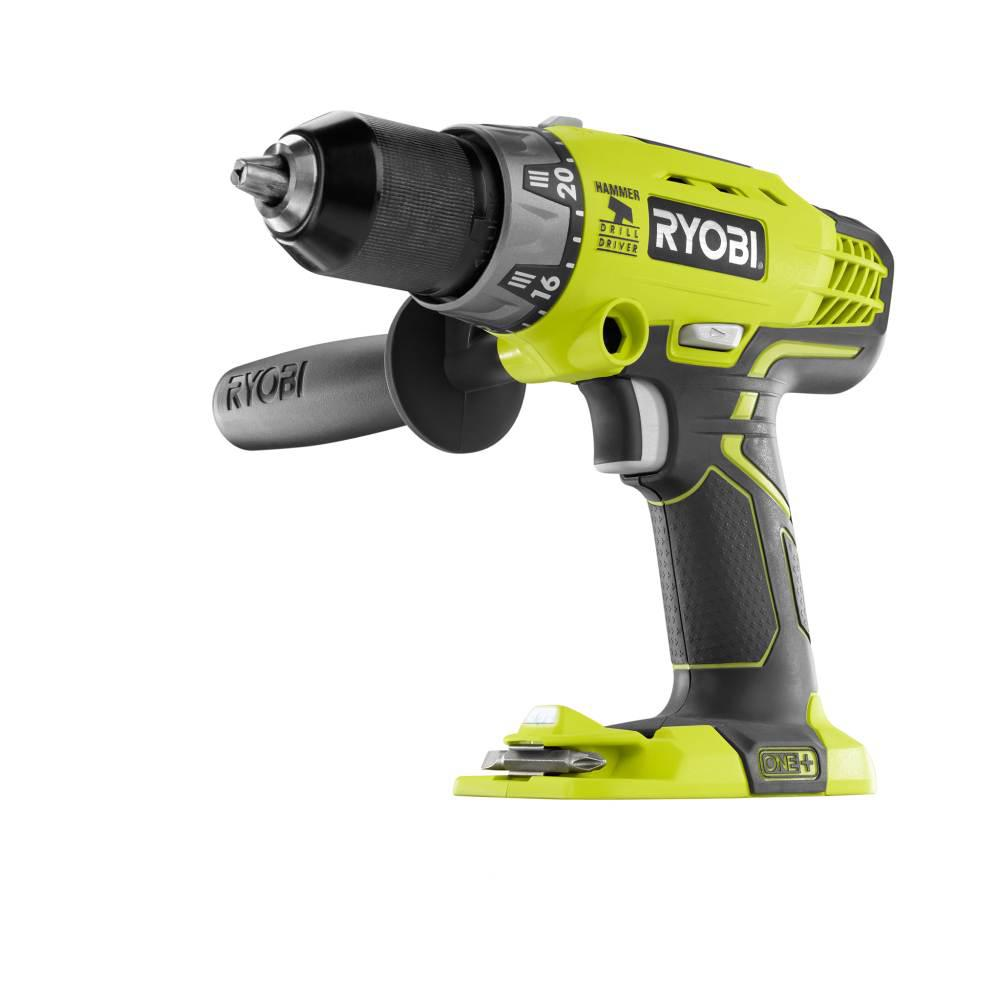 ryobi 18 volt one cordless 1 2 in hammer drill driver. Black Bedroom Furniture Sets. Home Design Ideas