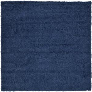Solid Shag Navy Blue 8 ft. Square Area Rug