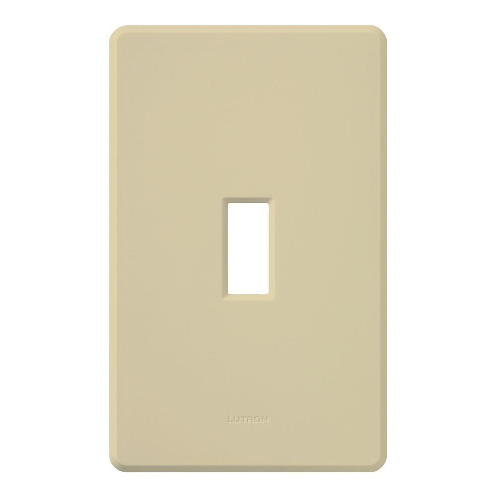 Fassada 1 Gang Wallplate for Toggle-Style Dimmers and Switches, Ivory