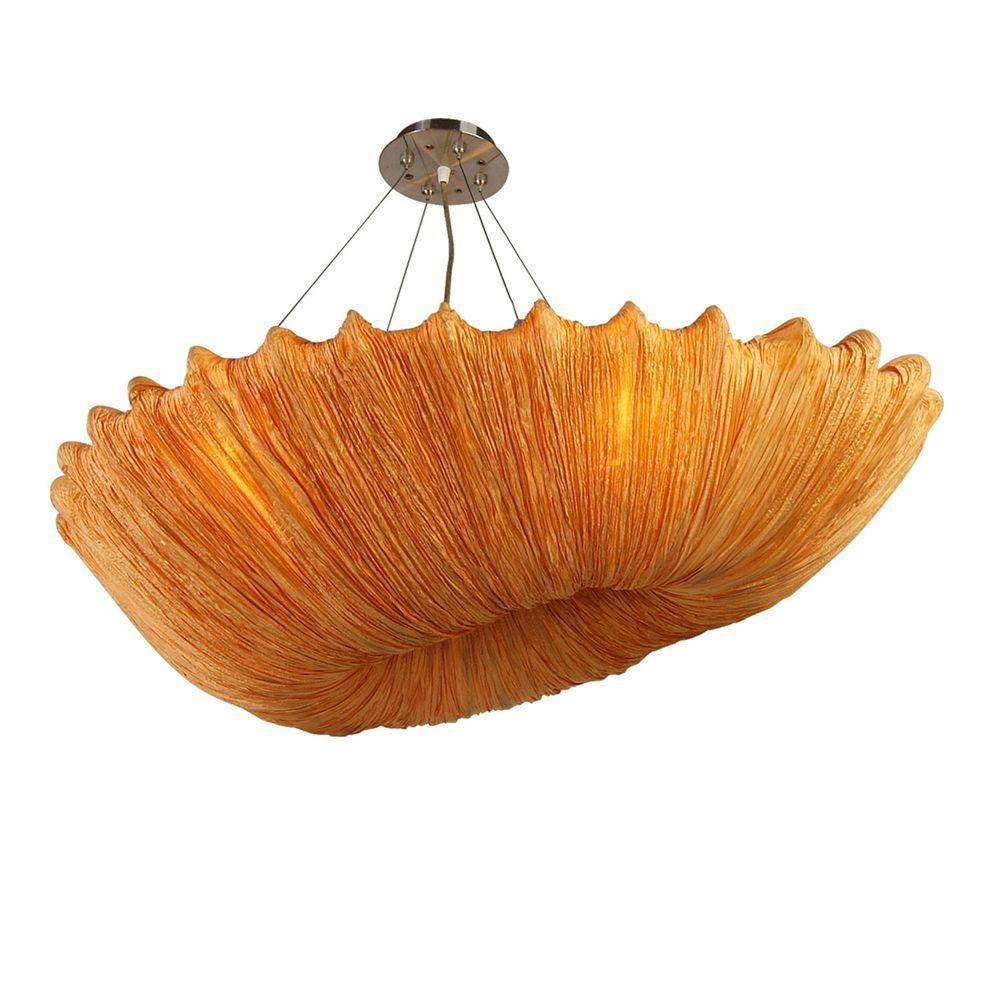 Filament Design Xavier 4-Light Ceiling Orange Incandescent Flush Mount