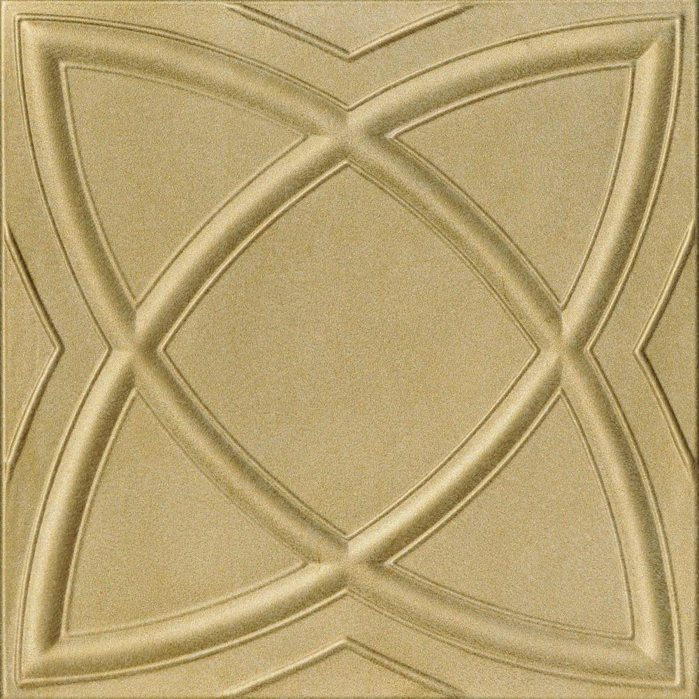 Elliptic Illusion 1 6 Ft X Foam Glue Up Ceiling Tile In Light Br