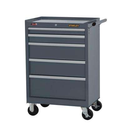 27 in. W 5-Drawer Tool Cabinet, Grey