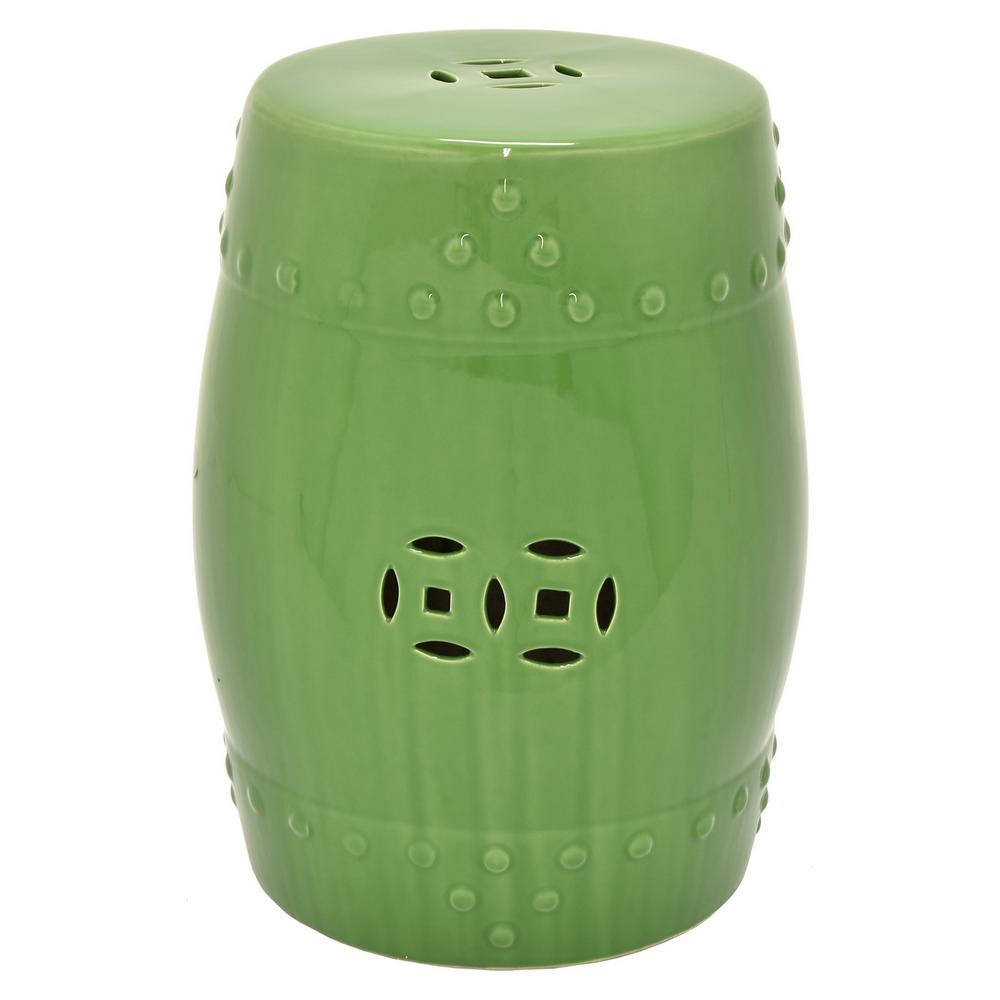 THREE HANDS 18 in Green Garden Stool80575 The Home Depot