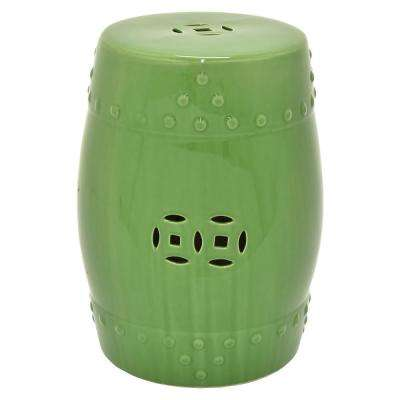 18 in. Green Garden Stool