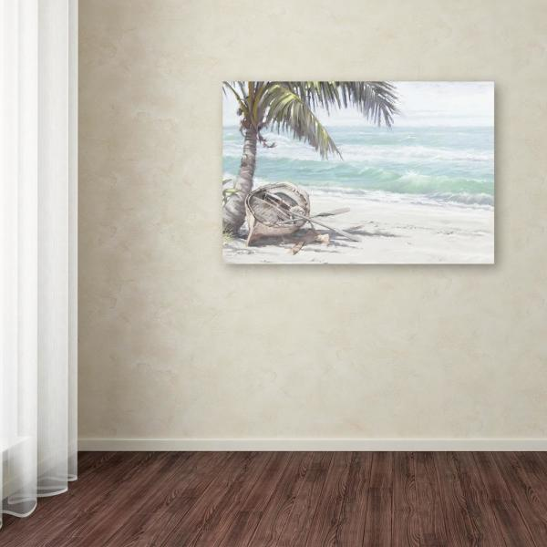 Trademark Fine Art 22 In X 32 In Boat On Beach By The Macneil Studio Printed Canvas Wall Art Ali9083 C2232gg The Home Depot