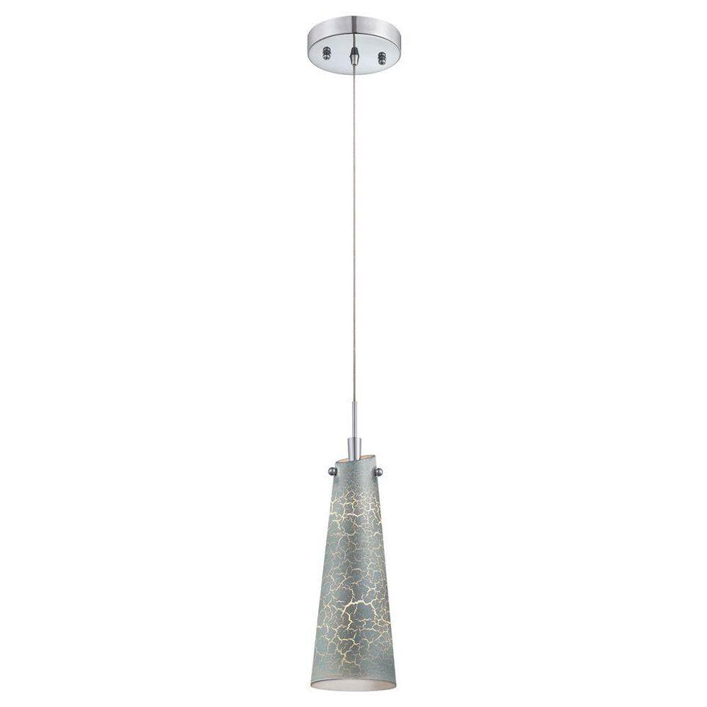 Eurofase Tenor Collection 1-Light Chrome and Silver Pendant