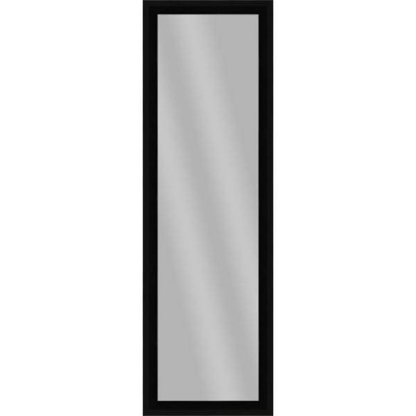 Large Rectangle Black Art Deco Mirror (51.875 in. H x 15.875 in. W)
