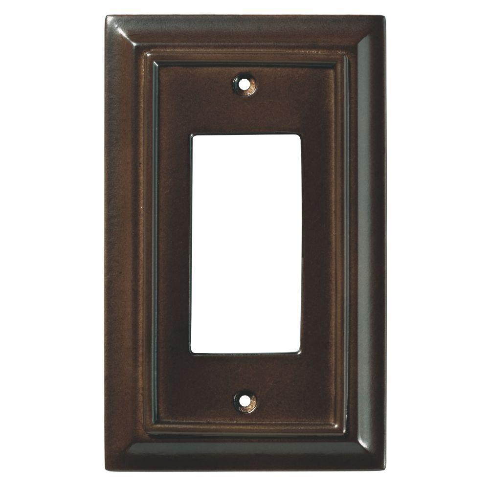 Rocker Switch Plate Entrancing Hampton Bay Architectural Wood Decorative Single Rocker Switch Decorating Inspiration