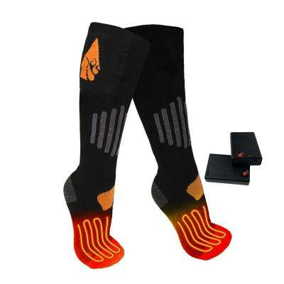 Large/X-Large Black Wool AA Heated Sock