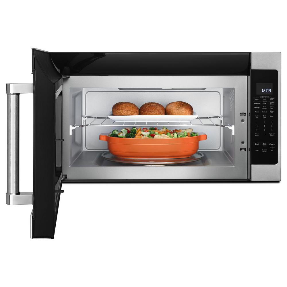 Kitchenaid 2 0 Cu Ft Over The Range Microwave In Stainless Steel With Sensor Cooking