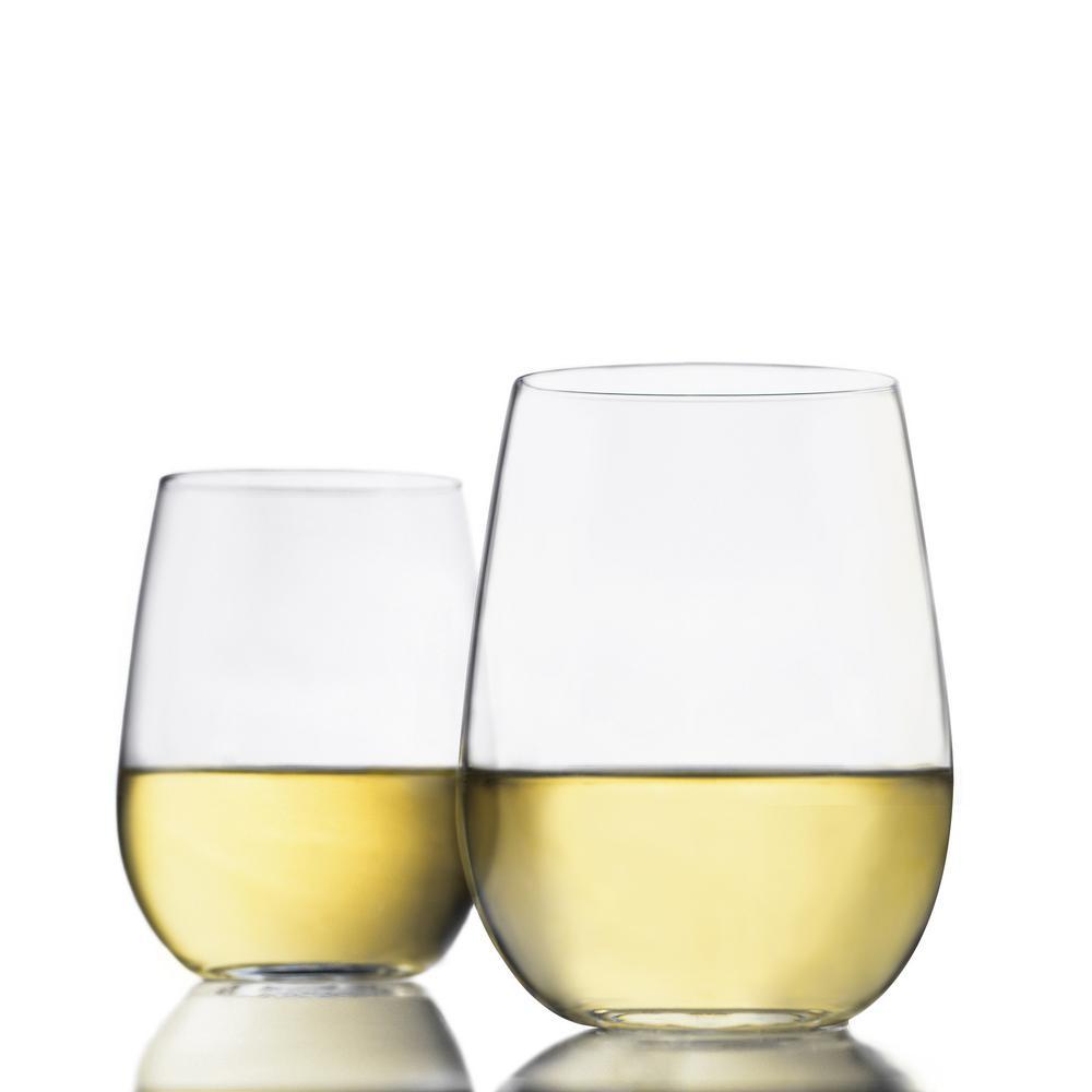 Vina 4-piece Stemless White Wine Glass Set