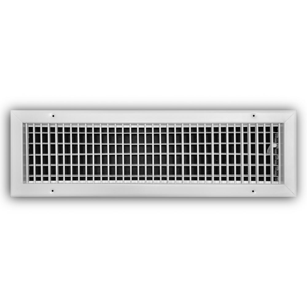 24 in. x 6 in. Steel Adjustable 1-Way Wall/Ceiling Register