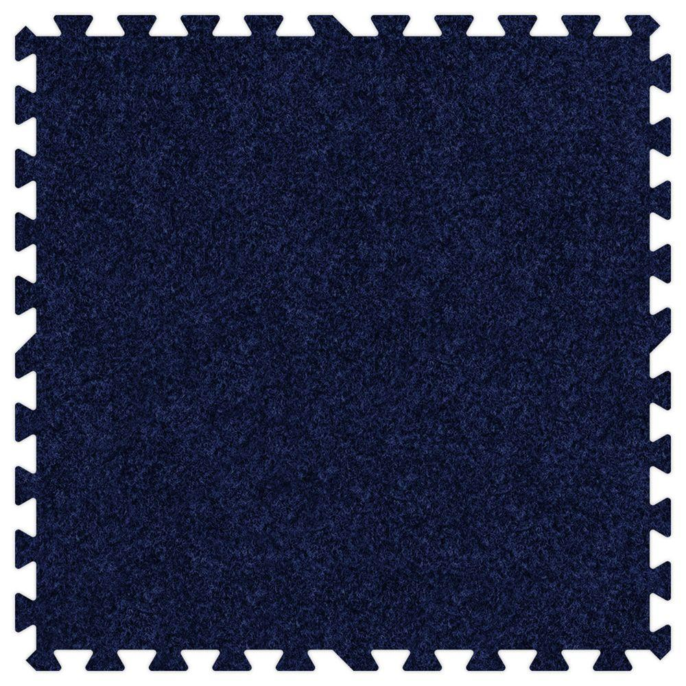 Groovy Mats Navy Blue Comfortable Carpet Mats - Small Sample Piece