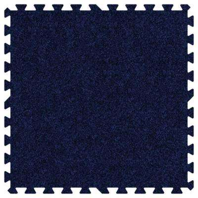 Navy Blue 24 in. x 24 in. Comfortable Carpet Mat (100 sq. ft. / Case)