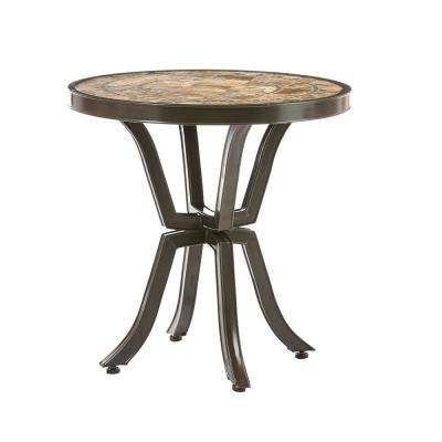 Richmond Hill Heather Slate 30 in. Round Outdoor Bistro Table