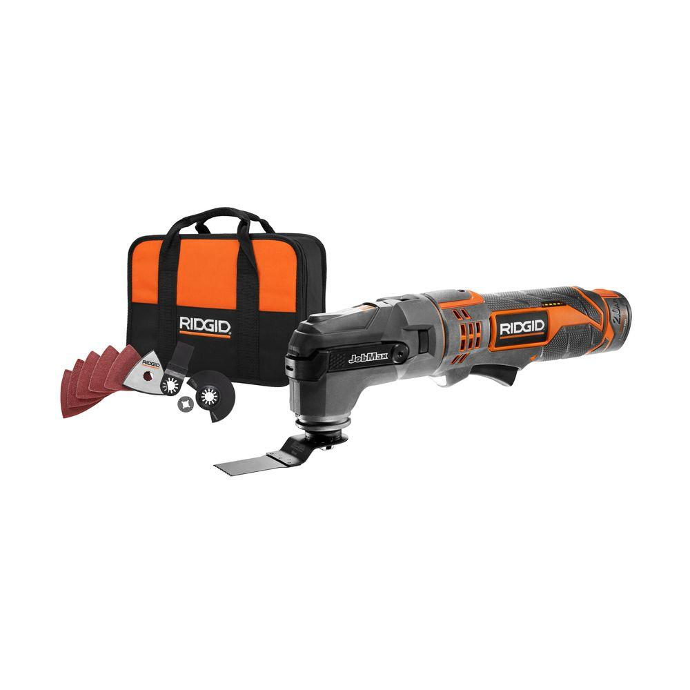 RIDGID JobMax 12-Volt Multi-Tool with Tool Free Head