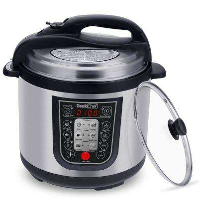 11-in-1 Multi-Function 6.3 Qt. Pressure Cooker with Glass Lid