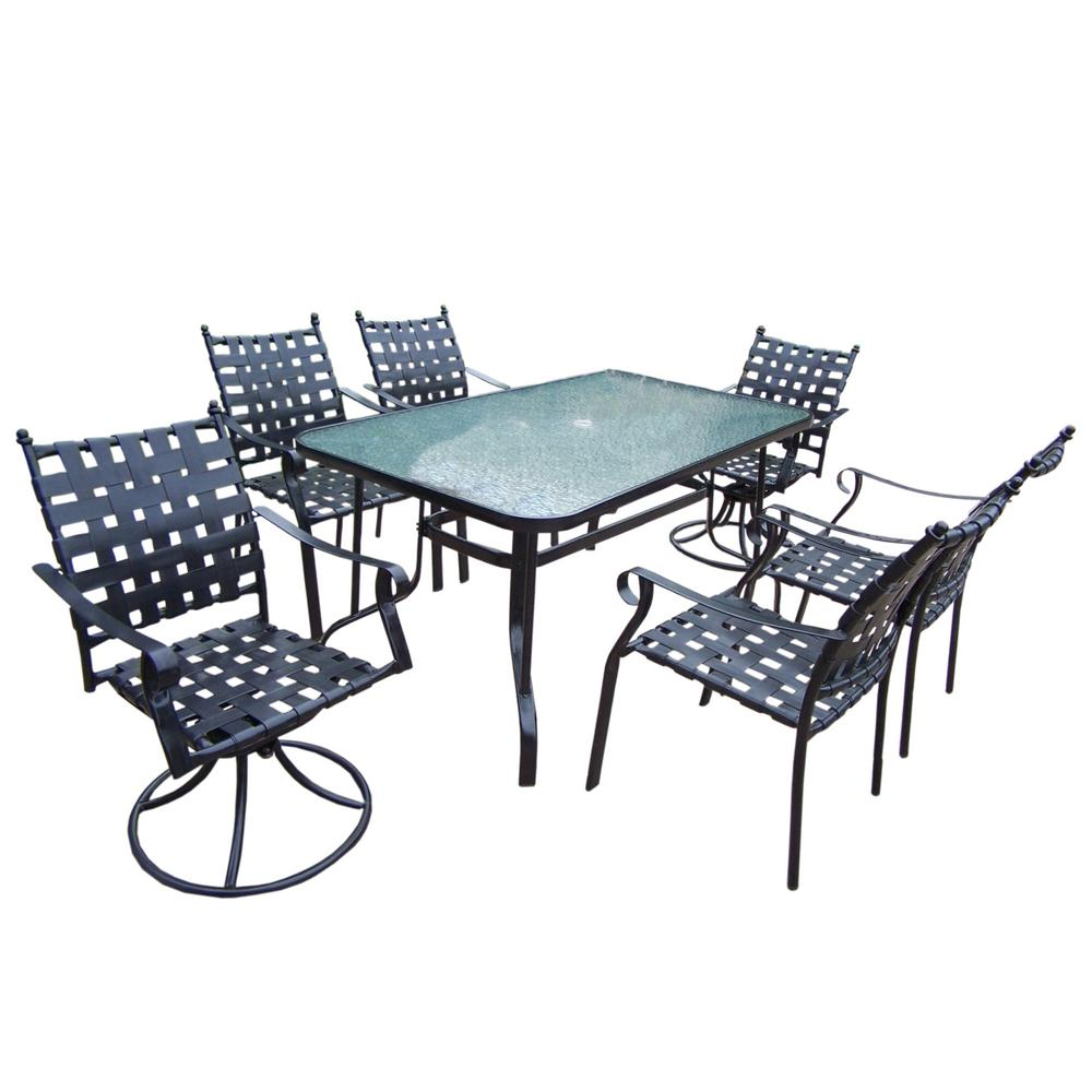 7-Piece Web Metal Outdoor Dining Set