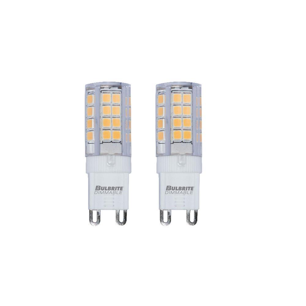 35-Watt Equivalent T4 Dimmable Bi-Pin (G9) LED Light Bulb Warm White (2-Pack)