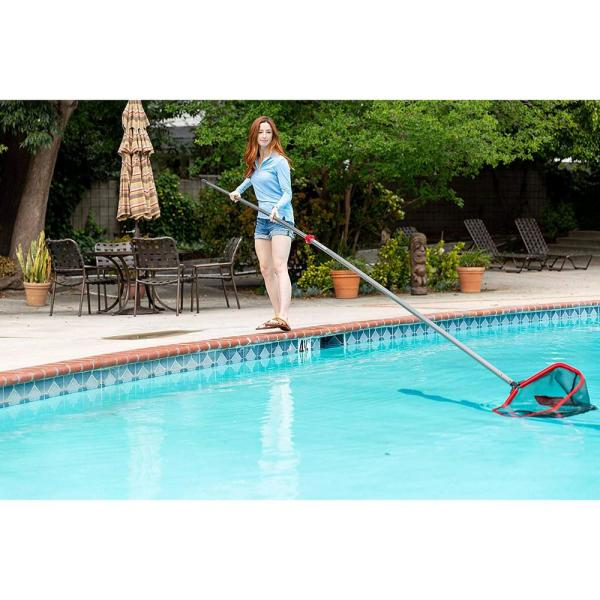 Pro Tuff Products 8 Ft To 16 Ft Telescoping Swimming Pool Cleaning Tool Net Pole Usp 16 Full The Home Depot