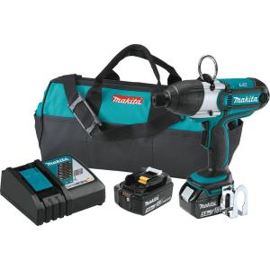 Makita 18-Volt 5.0Ah LXT Lithium-Ion Cordless Quick Change 7/16 inch Hex Impact Wrench Kit by Makita
