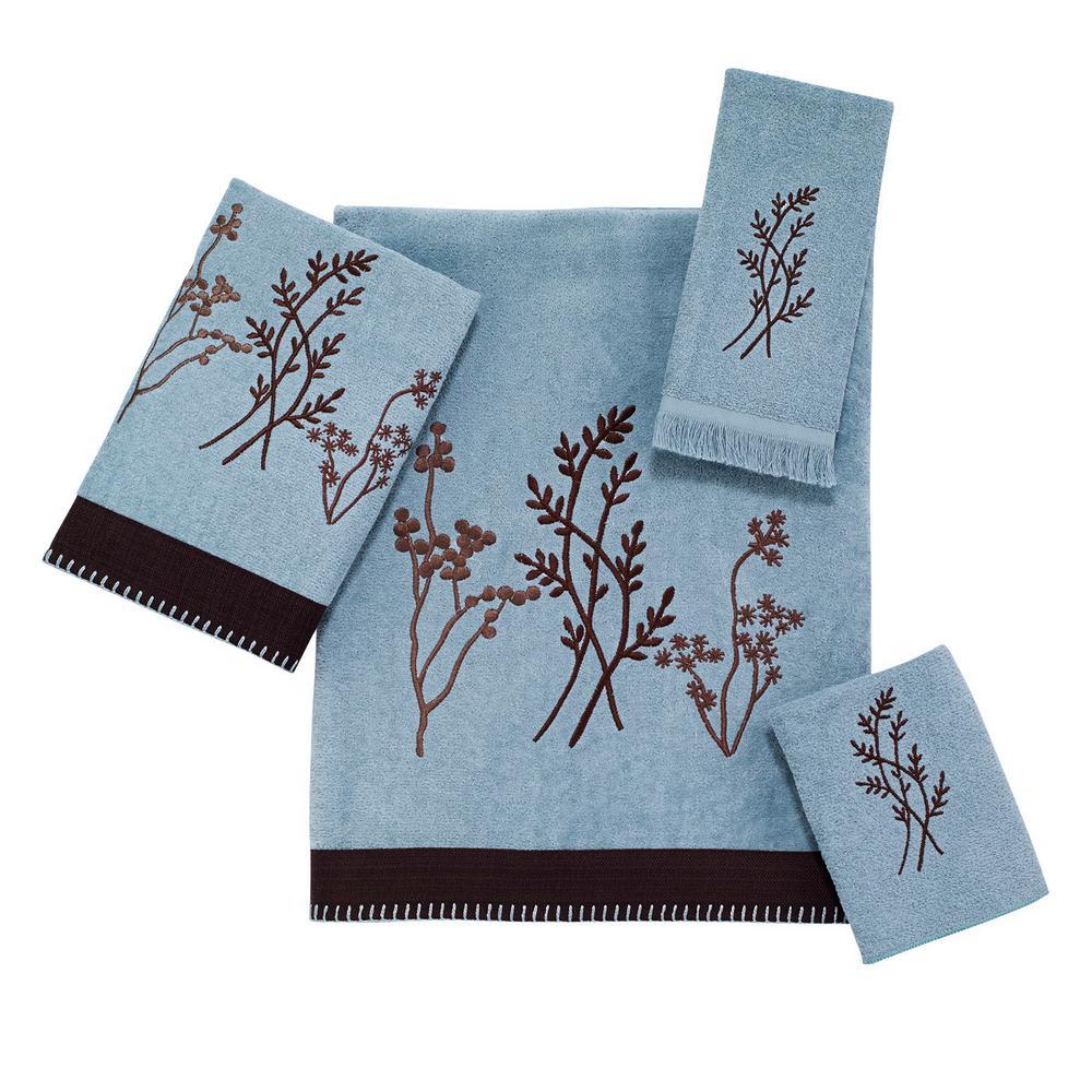 Laguna 4-Piece Bath Towel Set in Mineral