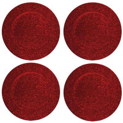 Home Essentials & Beyond 13 in. 4-Piece Glitter Red Plate Charger Set