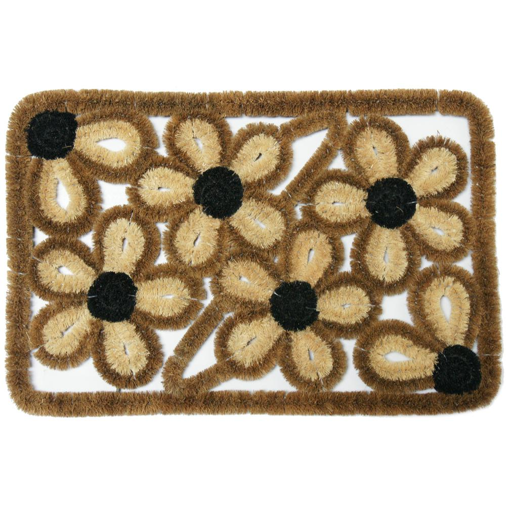 Rubber Cal Wild Flowers Coco 18 In X 30 In Coir Outdoor