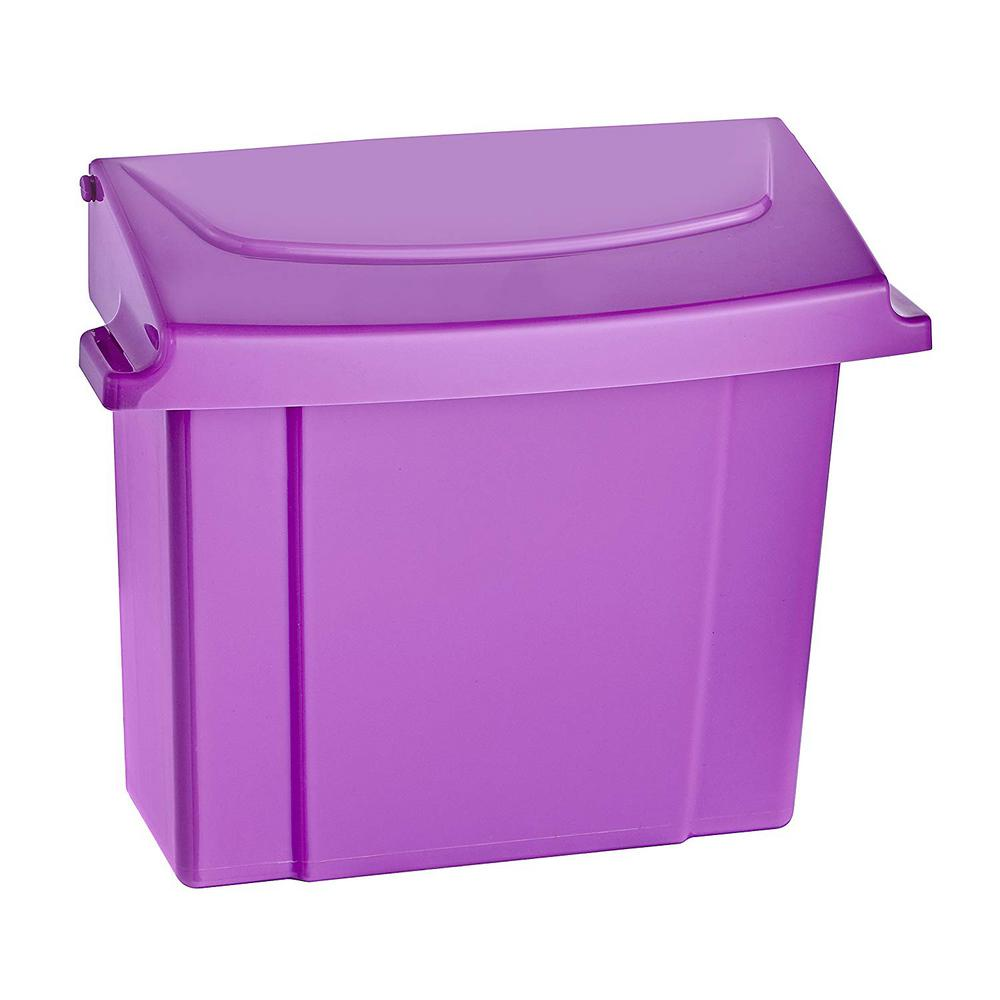 Purple Durable Plastic Sanitary Napkin Receptacle
