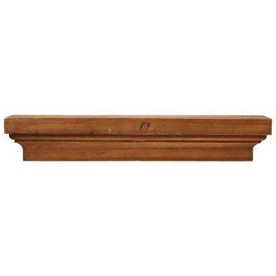 24 in. x 5 in. Floating Brown Wood Decorative Shelf