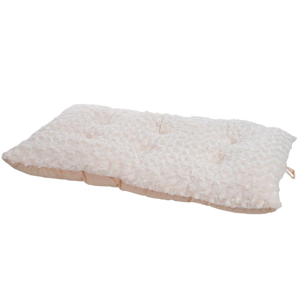 Lavish Cushion Extra-Large Latte Pillow Furry Pet Bed