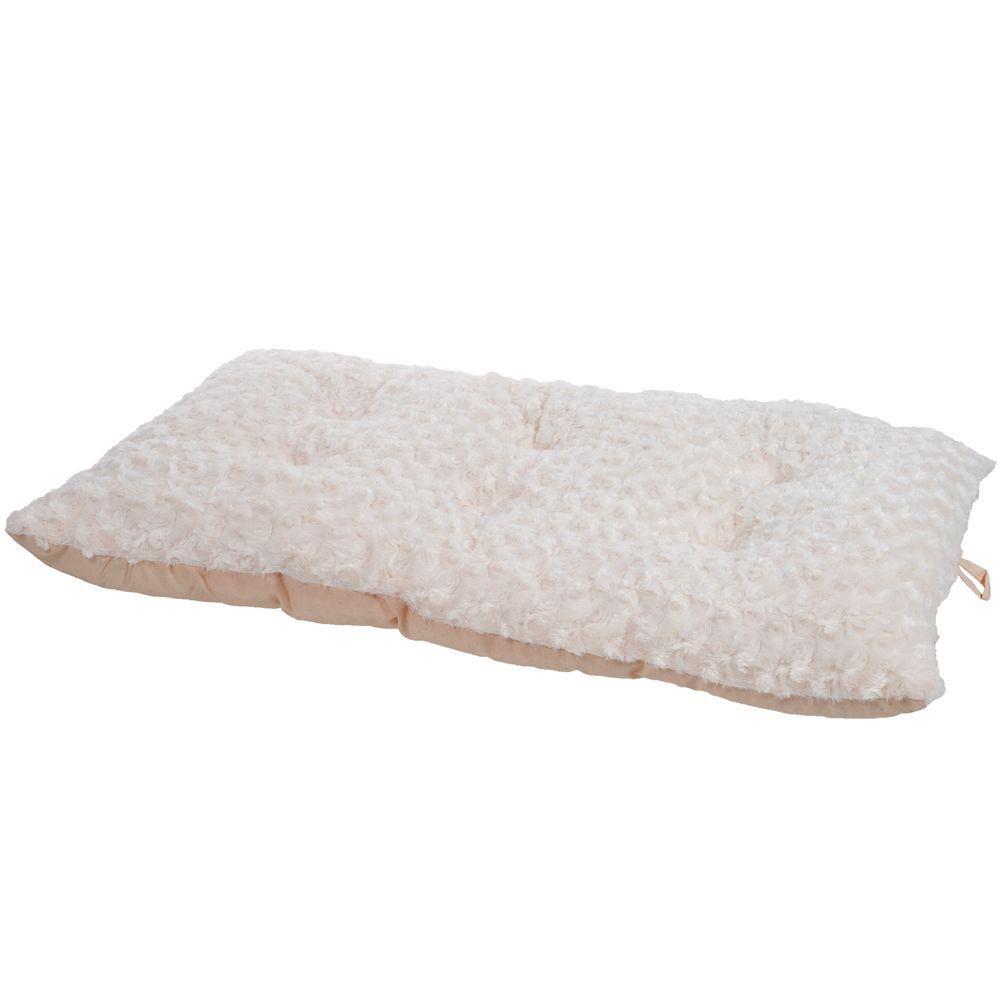 Lavish Cushion Extra-Large Latte Pillow Furry Pet Bed