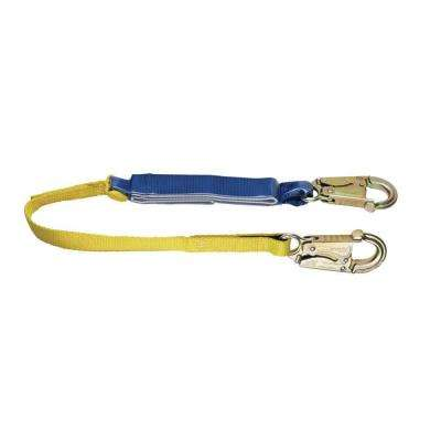 Upgear 3 ft. DeCoil Lanyard (DCELL Shock Pack, 1 in. Web, Snap Hook)