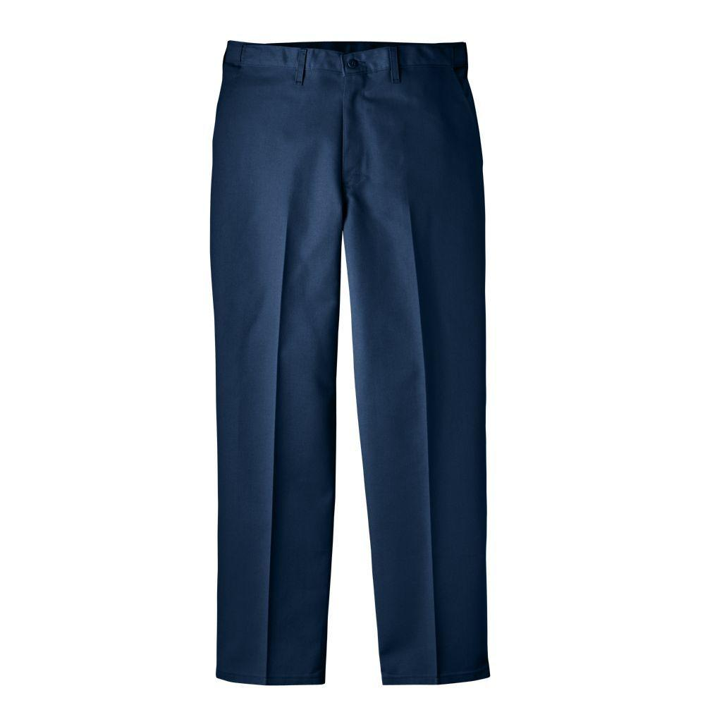 Dickies Regular Fit 44 in. x 30 in. Polyester Flat Front Comfort Waist Multi-Use Pocket Pant Dark Blue