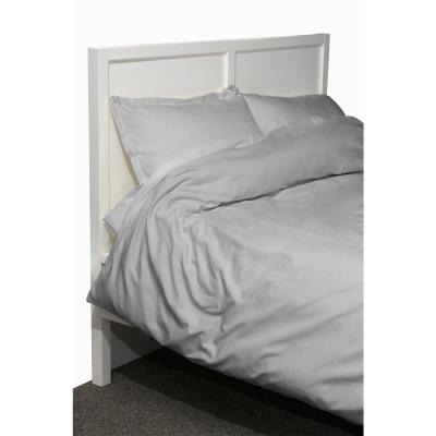 600 Twill 2-Piece Gray Twin Cotton/Polyester Duvet Set