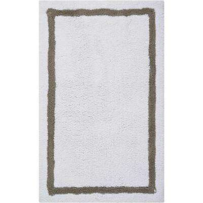 Plush Charcoal 1 ft. 9 in. x 2 ft. 10 in. Bath Rug