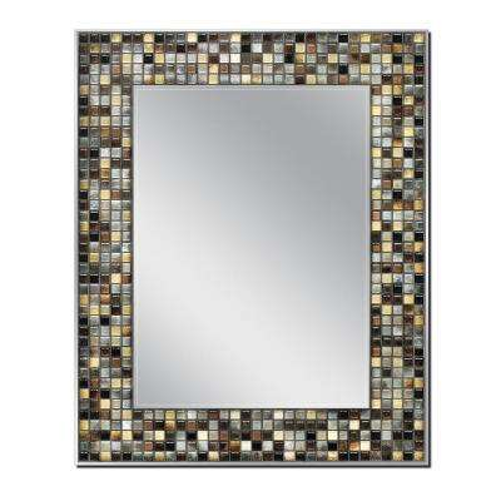 Sierra Gold 23.5 in. x 29.5 in. Single Frameless Wall Mirror