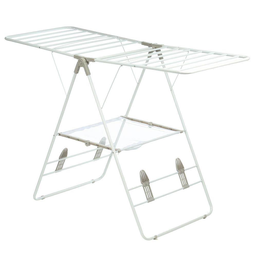 Heavy Duty Gullwing Drying Rack, White Metal