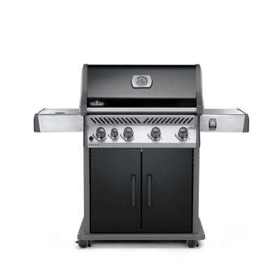 Rogue 5-Burner Natural Gas Grill in Black with Range Side Burner
