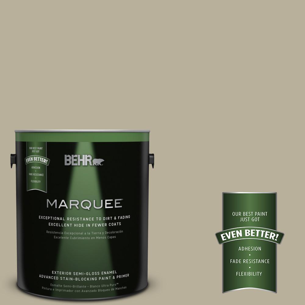 BEHR MARQUEE 1-gal. #N340-3 Bonsai Pot Semi-Gloss Enamel Exterior Paint
